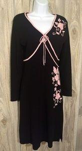 Just In⌚Vertigo Paris Black Knit Dress with Shrug